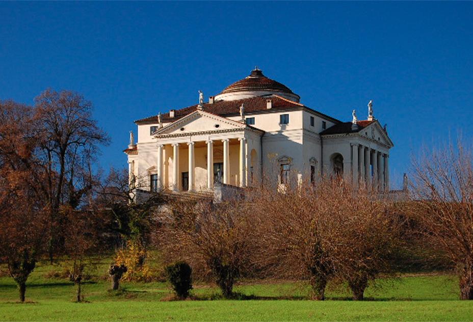 Villa Palladiana nella provincia di Vicenza, immagine simbolica per raffigurare le eccellenze culturali della regione Veneto, nel gioco di strategia La Baruffa Veneta.